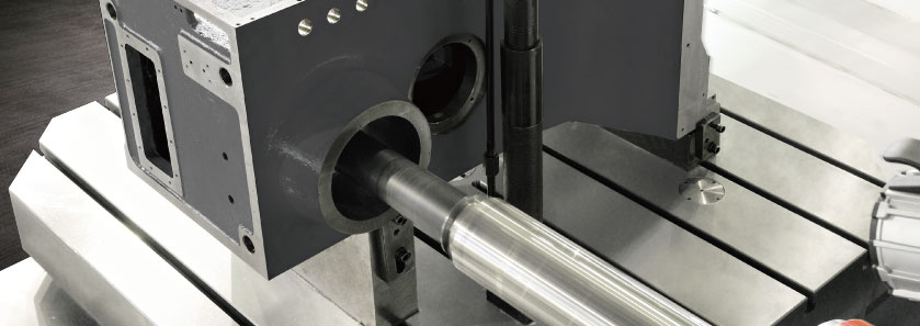 CNC Horizontal Boring Milling Center Close-up