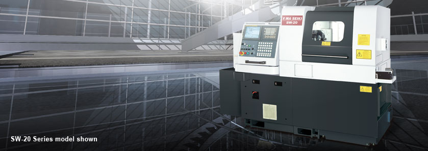 CNC Maximum Performance swiss turning centers SW-20 Series model shown